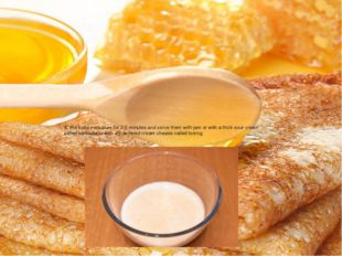 4. We bake pancakes for 2-5 minutes and serve them with jam or with a thick s