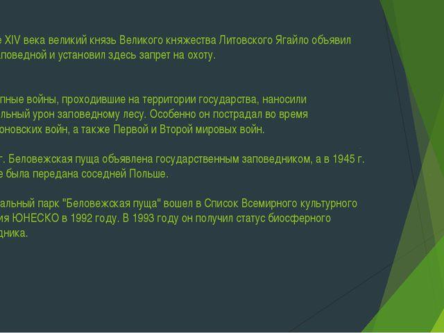 В конце XIV века великий князь Великого княжества Литовского Ягайло объявил п...