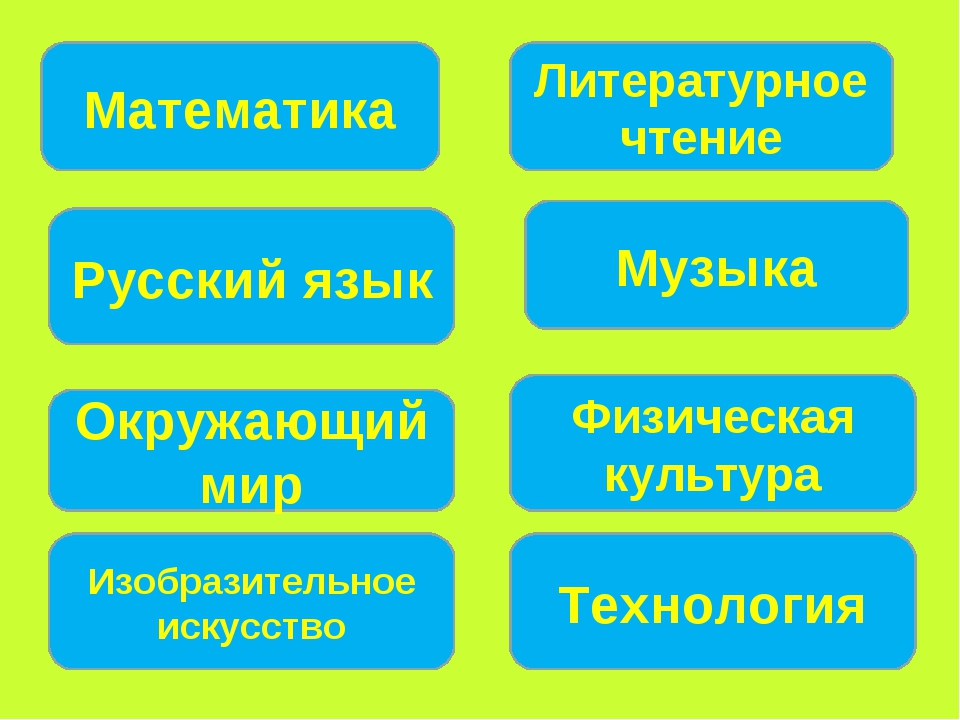 Математика Русский язык Окружающий мир Литературное чтение Музыка Физическая...