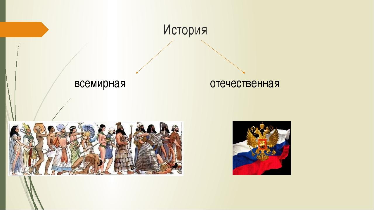 История всемирная отечественная