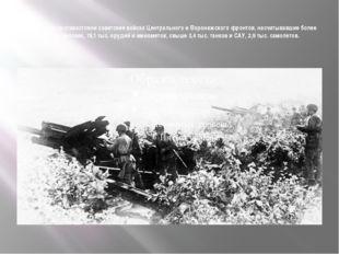 Противнику противостояли советские войска Центрального и Воронежского фронто