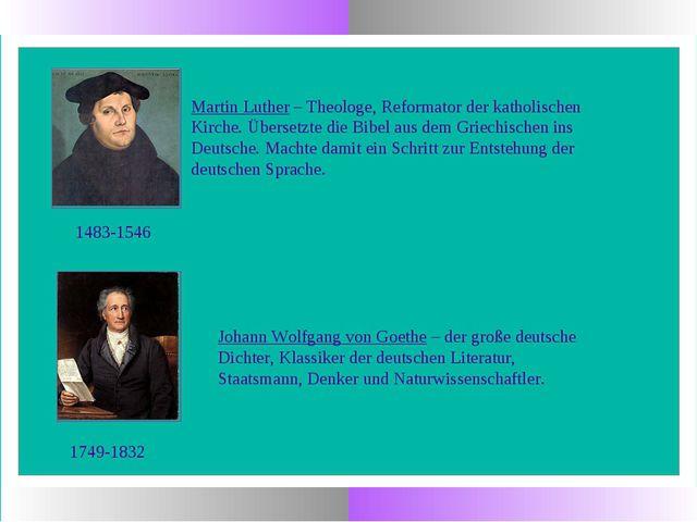 1483-1546 Martin Luther – Theologe, Reformator der katholischen Kirche. Übers...