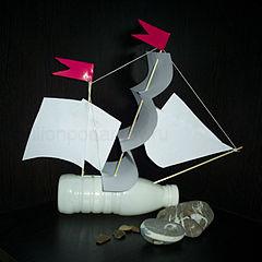 Мастер класс корабль из пластиковой бутылки своими руками