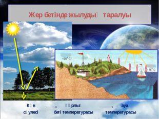 Жер бетінде жылудың таралуы Күн құрлық ауа сәулесі беті температурасы темпера