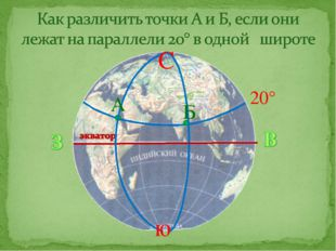 20° ю А Б С