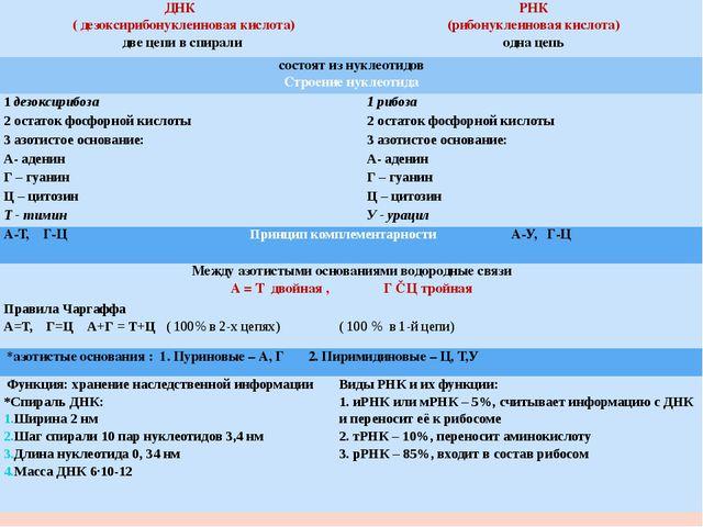 ДНК ( дезоксирибонуклеиновая кислота) две цепи в спирали РНК (рибонуклеиновая...