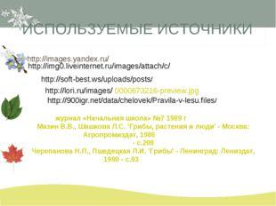 ИСПОЛЬЗУЕМЫЕ ИСТОЧНИКИ http://images.yandex.ru/ http://img0.liveinternet.ru/i