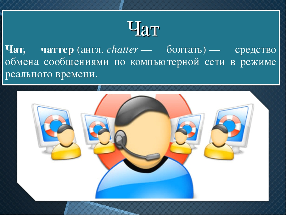 Чат, чаттер(англ.chatter— болтать)— средство обмена сообщениями по компь...