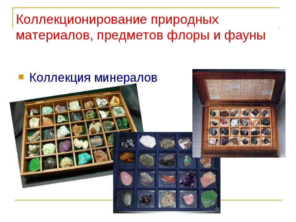 Коллекция минералов Коллекционирование природных материалов, предметов флоры...