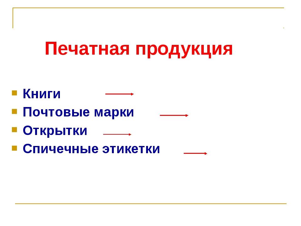 Книги Почтовые марки Открытки Спичечные этикетки Печатная продукция Библиофил...