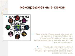 межпредметные связи Связь между учебными предметами является, прежде всего, о