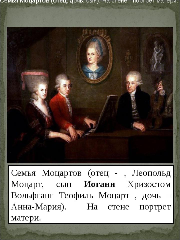 Семья Моцартов (отец - , Леопольд Моцарт, сын Иоганн Хризостом Вольфганг Теоф...