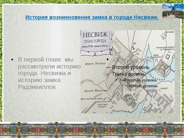 История возникновения замка в городе Несвиже. В первой главе мы рассмотрели...