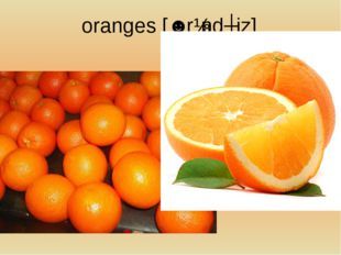 oranges[ˈɒrɪndʒiz]