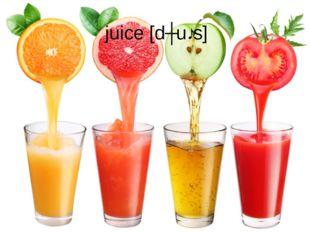 juice[dʒuːs]