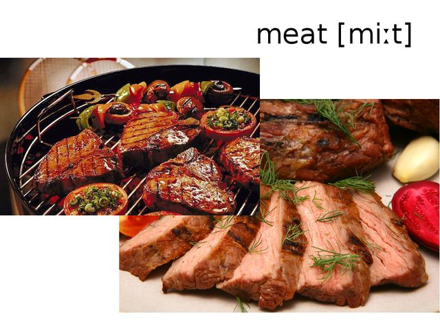 meat[miːt]