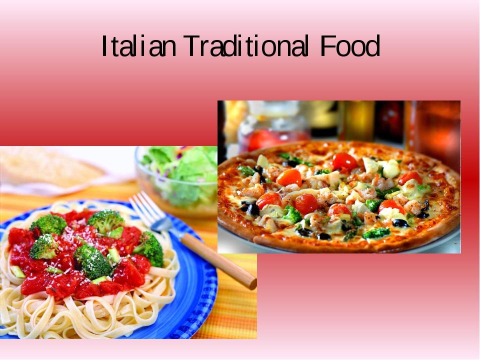 Italian Traditional Food