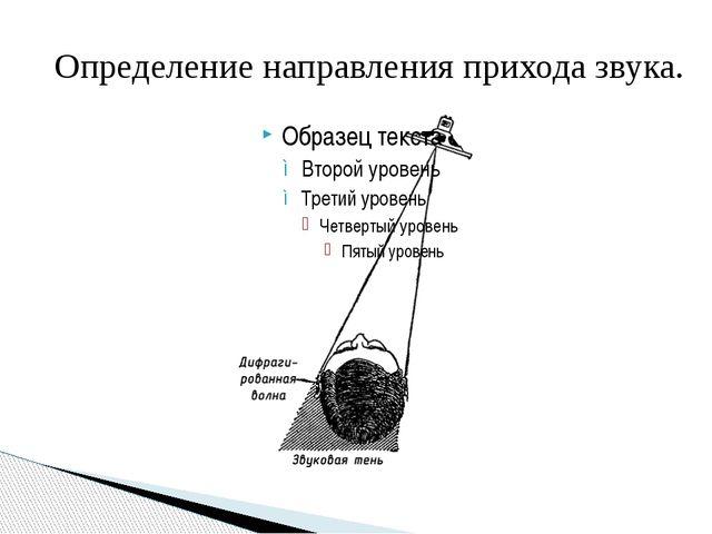 Определение направления прихода звука.