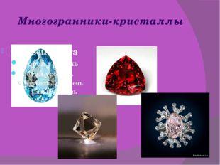 Многогранники-кристаллы