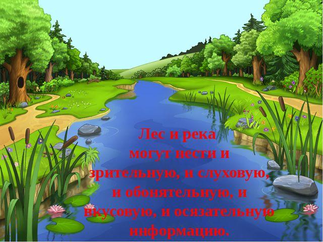 Лес и река могут нести и зрительную, и слуховую, и обонятельную, и вкусовую,...