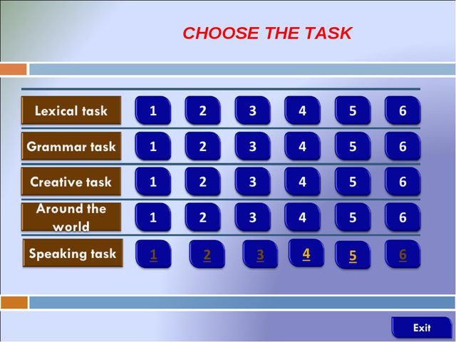 CHOOSE THE TASK