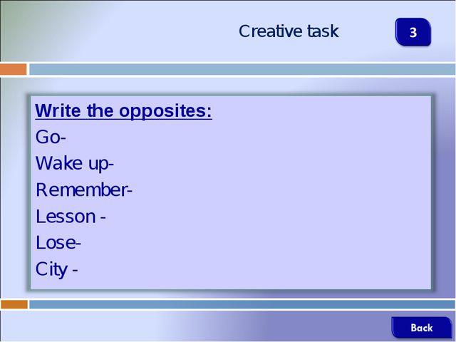 Creative task