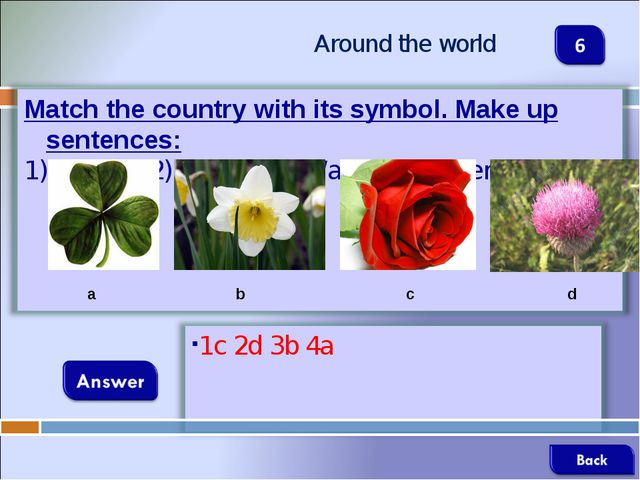 Around the world a b c d