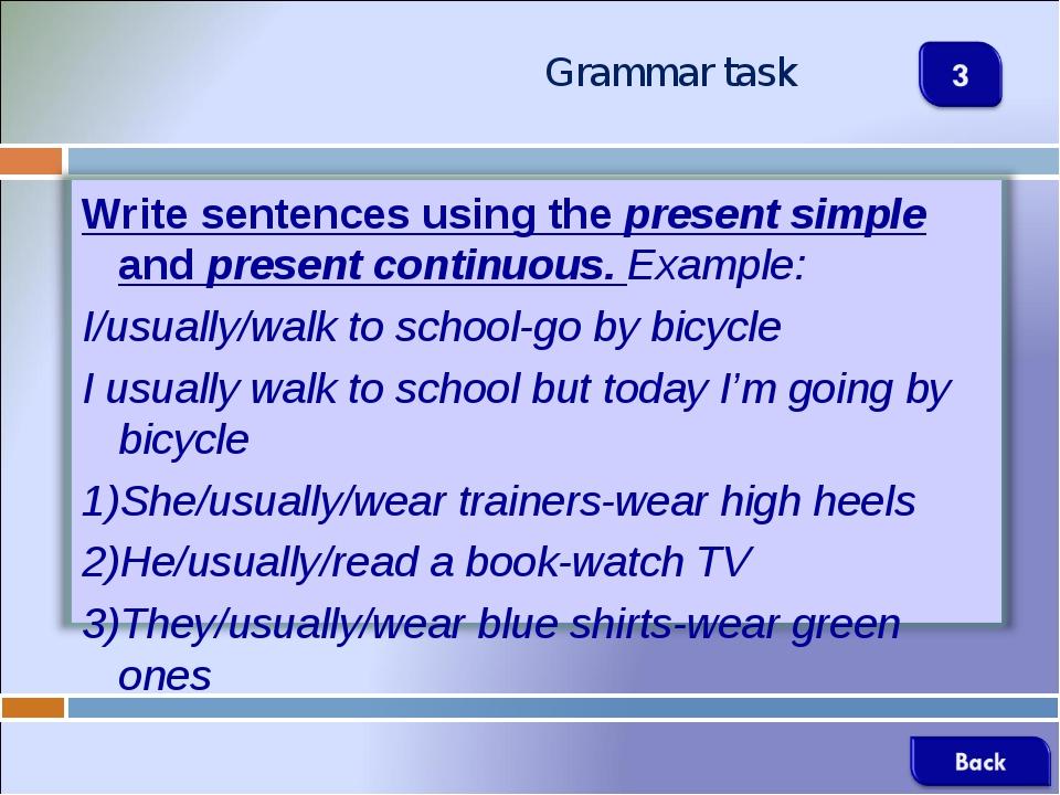 Grammar task