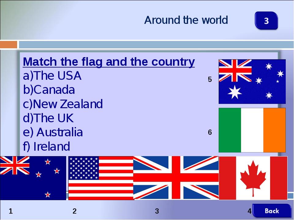Around the world 1 2 3 4 5 6