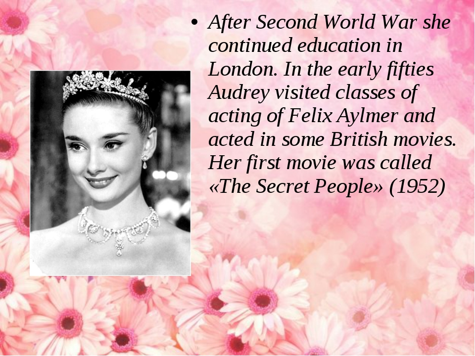 After Second World War she continued education in London. In the early fiftie...