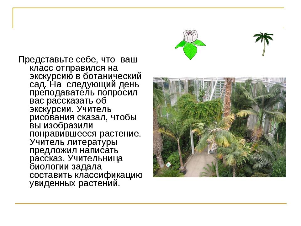Представьте себе, что ваш класс отправился на экскурсию в ботанический сад. Н...