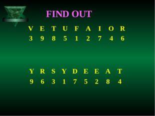 FIND OUT VETUFAIOR 398512746 YRSYDEEAT 9631752