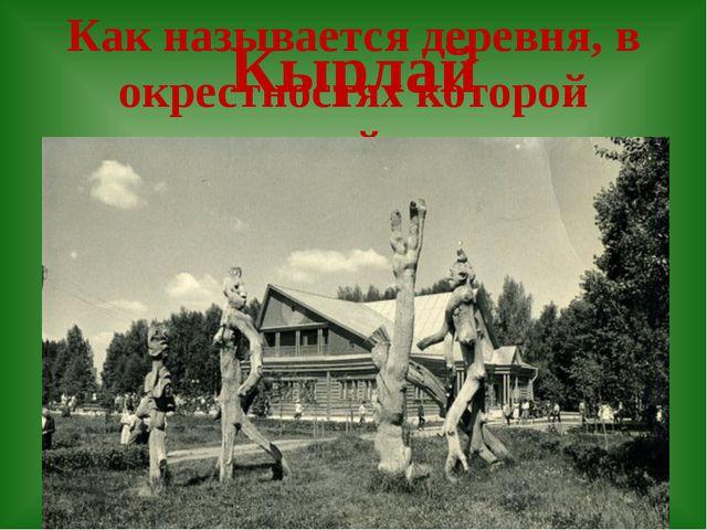 Как называется деревня, в окрестностях которой происходит действие поэмы «Шур...