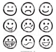 Smiley Faces Clip Art Black And White