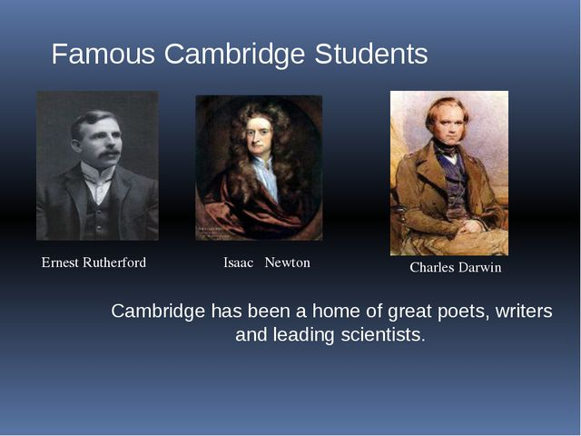 Famous Cambridge Students Ernest Rutherford Isaac Newton Charles Darwin Cambr...