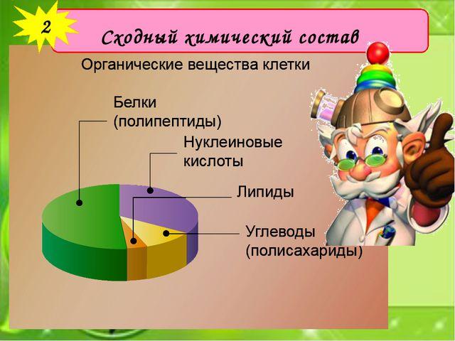 Сходный химический состав 2