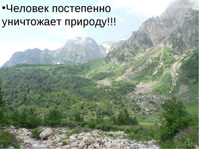 Человек постепенно уничтожает природу!!! Человек постепенно уничтожает природ...