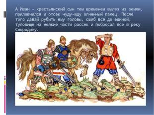 А Иван – крестьянский сын тем временем вылез из земли, приловчился и отсек чу