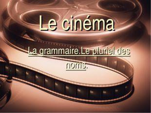 Le сinéma La grammaire.Le pluriel des noms.