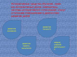 Интерактивные средства обучения, такие как интерактивные доски, компьютеры, с