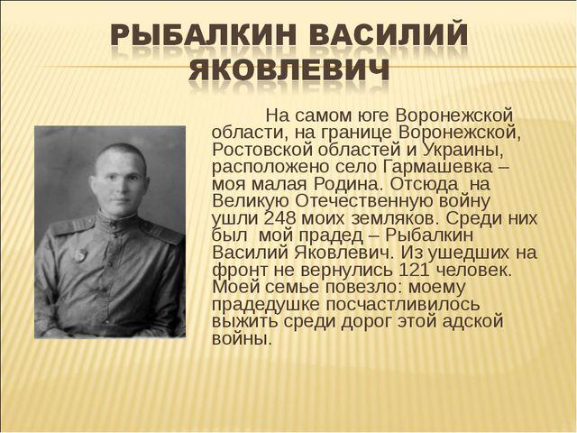 На самом юге Воронежской области, на границе Воронежской, Ростовской областе...