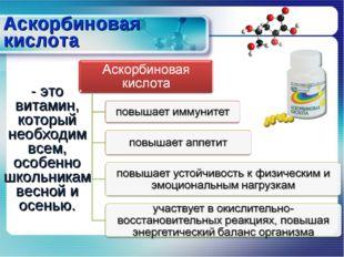 Аскорбиновая кислота - это витамин, который необходим всем, особенно школьник