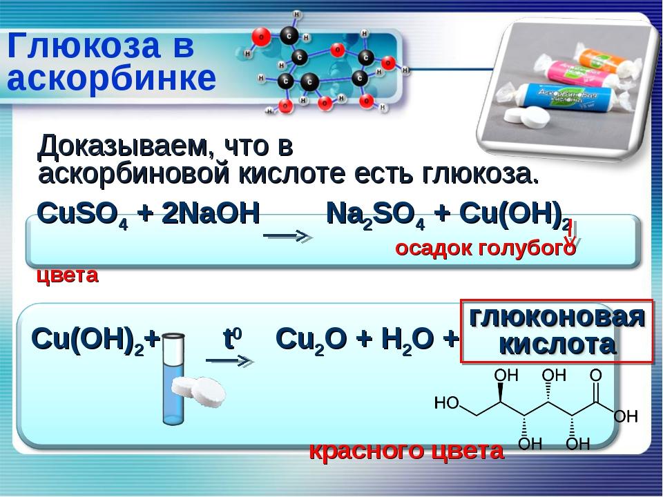 Глюкоза в аскорбинке Доказываем, что в аскорбиновой кислоте есть глюкоза. глю...