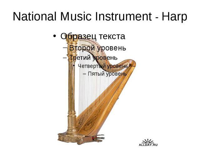 National Music Instrument - Harp