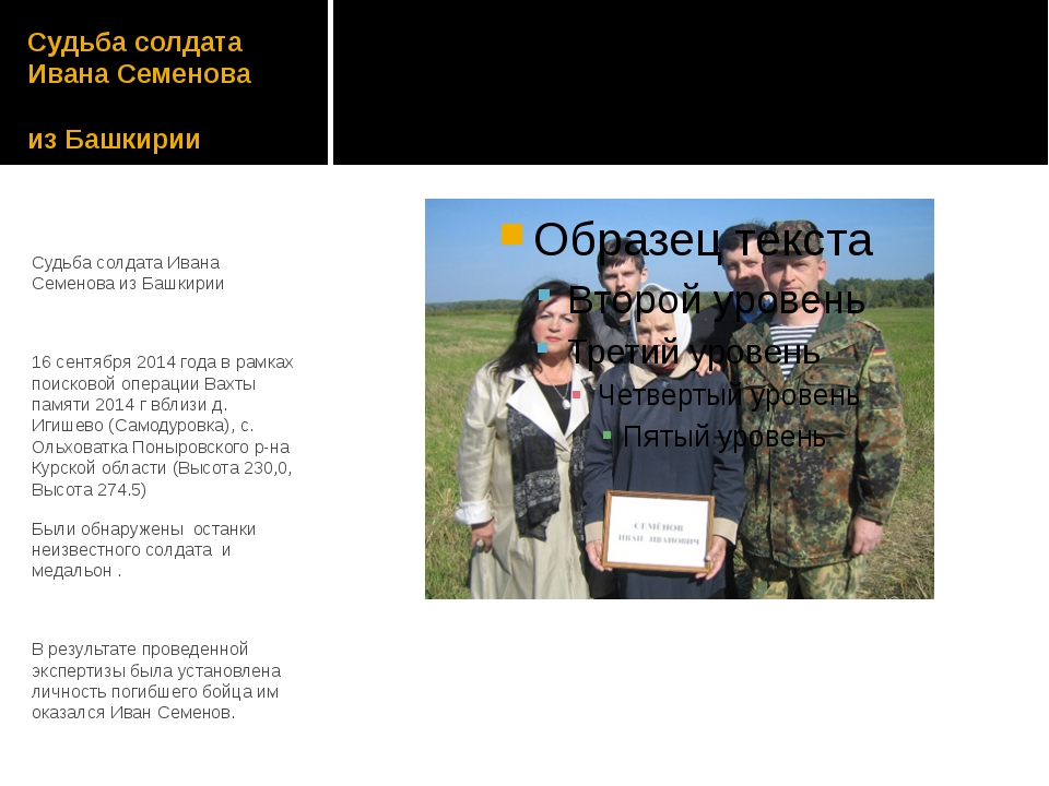 Судьба солдата Ивана Семенова из Башкирии Судьба солдата Ивана Семенова из Ба...