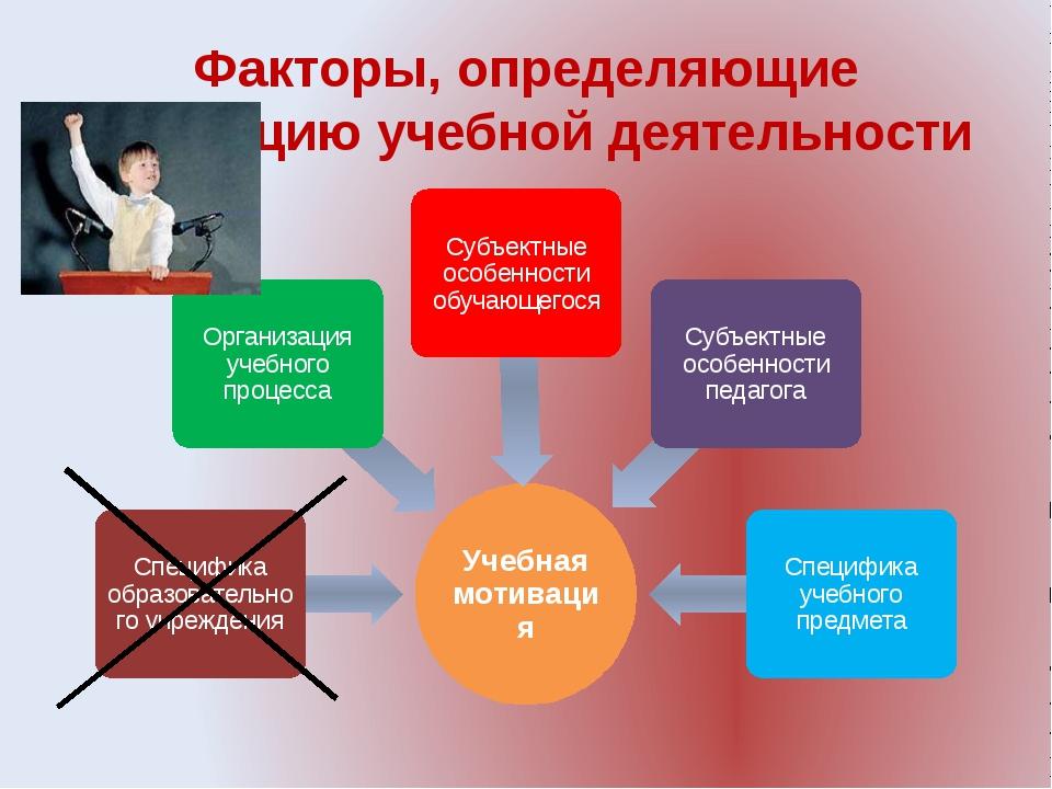 Факторы, определяющие мотивацию учебной деятельности