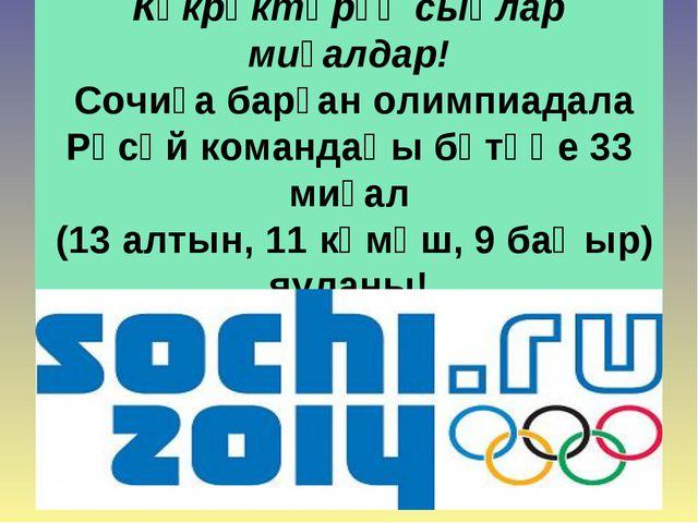 Күкрәктәрҙә сыңлар миҙалдар! Сочиҙа барған олимпиадала Рәсәй командаһы бөтәһе...