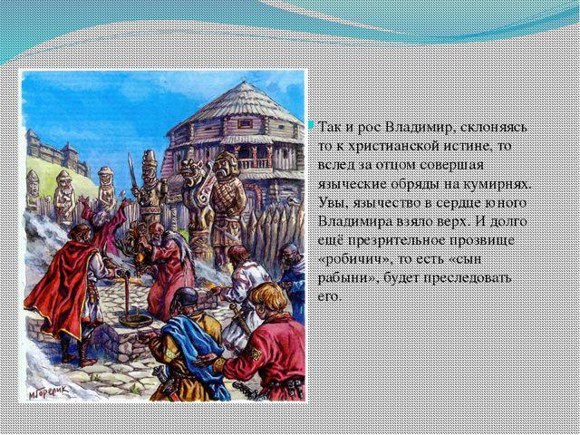 Так и рос Владимир, склоняясь то к христианской истине, то вслед за отцом со...
