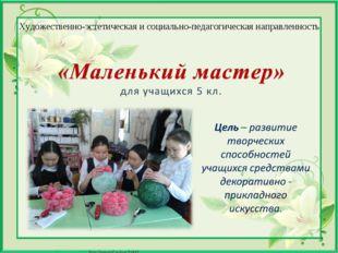 Художественно-эстетическая и социально-педагогическая направленность Матюшкин