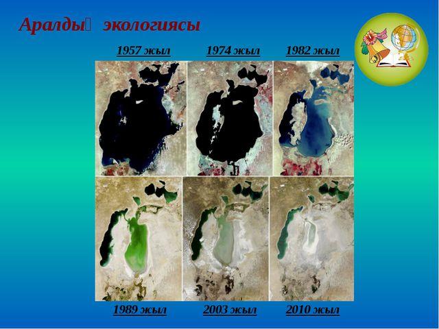 Аралдың экологиясы 1989 жыл 2003 жыл 2010 жыл 1957 жыл 1974 жыл 1982 жыл